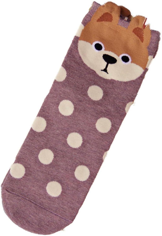 MINGXINTECH Womens 5Style Puppy Theme Cotton Crew Socks Spots Winter Stockings