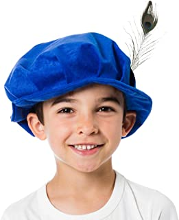 Tudor Hat Costume Accessory for Kids | Four Colours | One Size 3-12 Years