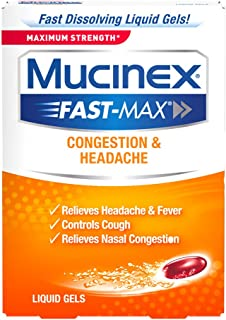 Mucinex Fast-Max Max Strength, Congestion & Headache Liquid Gels, 16ct