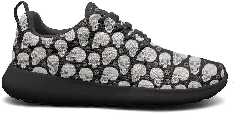 Wuixkas Bueaty Skull Print Womens Lightweight Mesh Sneakers Funny Tennis shoes