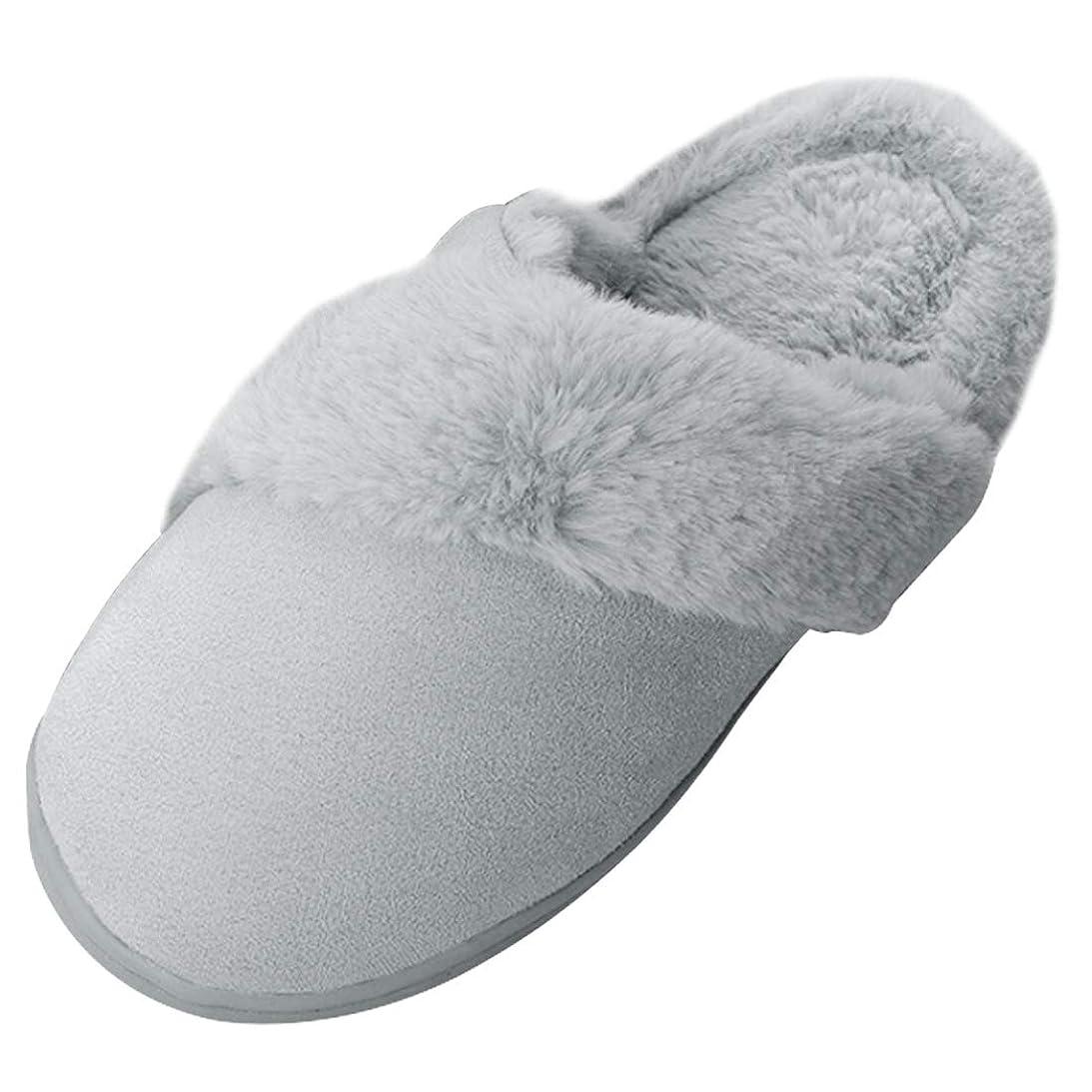 観客息切れ終了しました[Aiweijia] 男性と女性のカップルunisexノンスリップ屋内綿は、つま先スリッパ冬の暖かい家の耐久性のある唯一のカジュアルシューズを閉じた