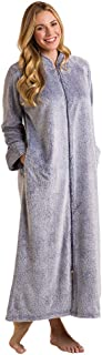 Women's Ultra Soft Frosted Plush Zip Robe