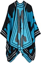 Women Open Front Thick Oversized Fleece Blanket Poncho Cape Shawl Elegant Shawl Wrap Sweater for Fall Winter()