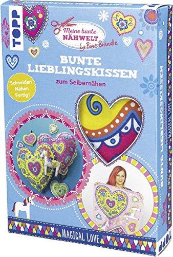 Bine Brändle Bunte Lieblingskissen zum Selbernähen Magical Love: Stoff mit Schnittmuster zum Ausschneiden und Sofort-Losnähen für 4-8 Motivkissen