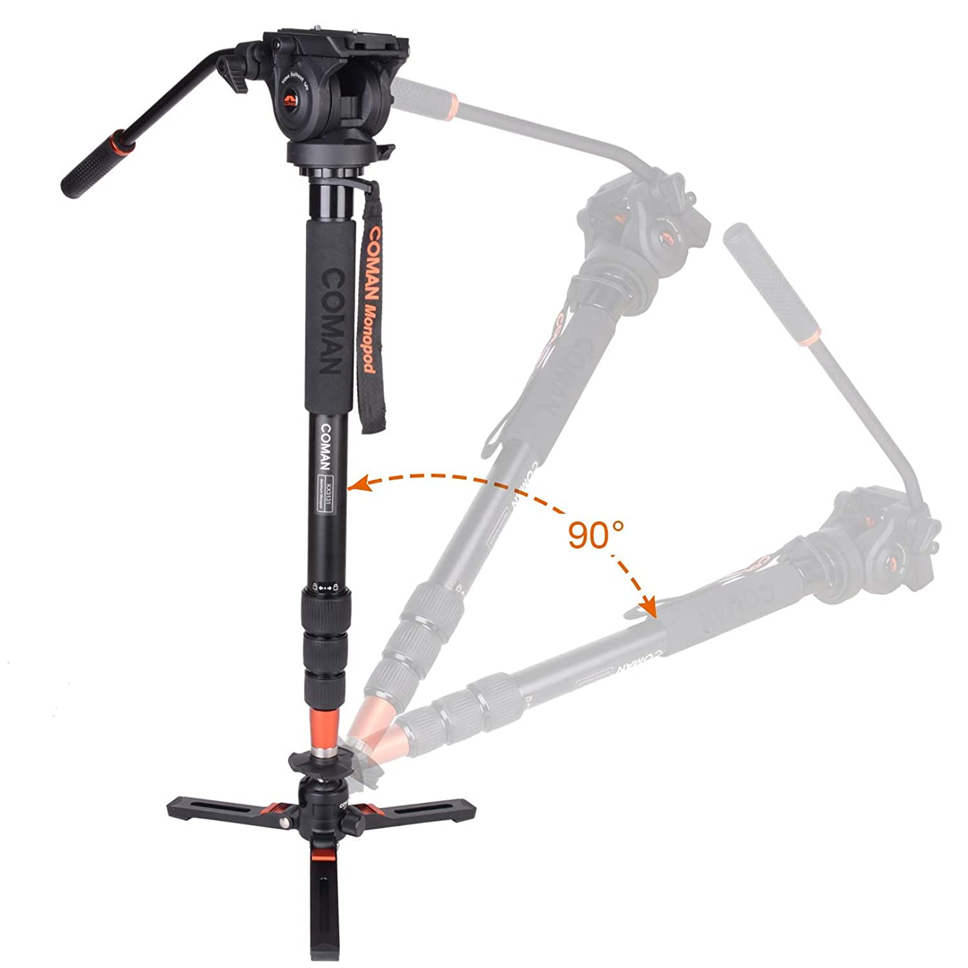 96.99 Now!Coman Video Camera Monopod with Feet 66.5