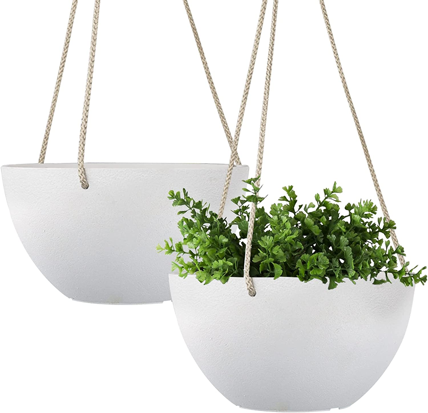 LA JOLIE MUSE White Hanging Planter Inch Outdo Challenge the lowest price of Japan 8 Indoor depot - Basket