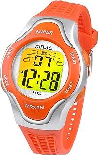Ragazzi Orologi Digitali, orologio da Polso Impermeabile con 12/24H/Sveglia/Luci di Sfondo Colorato, Orologio da Polso Ele...