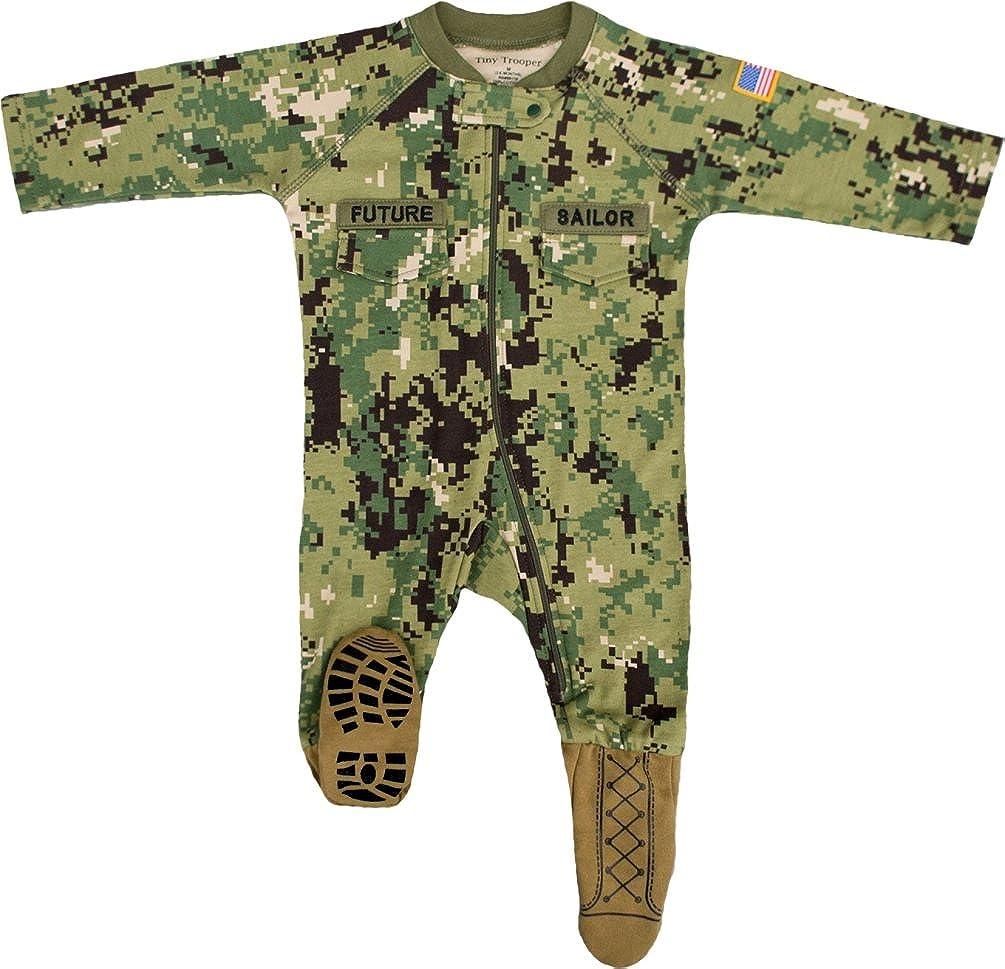 TC U.S. Navy Baby Boys NWU Camo Crawler with Recruit Boots