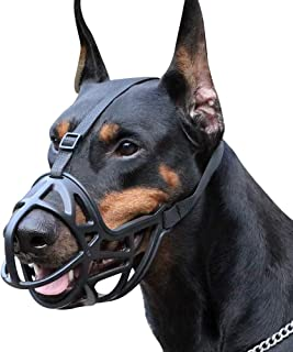 Mayerzon Dog Muzzle, Breathable Basket Muzzle to Prevent Barking, Biting and Chewing, Humane Muzzle for Small, Medium, Large and X-Large Dogs