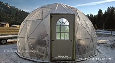 GGS Greenhouse Geodesic Dome 18 FT. 3V with Marine Poly Cover for Hydroponic Gardening