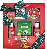 Bath and Body Christmas Gift Box For Women – 10 Piece Set of Velvet Sugar Home Spa Set, Includes Fragrant Lotions, 6 Bath Bombs, Bath Salt and More