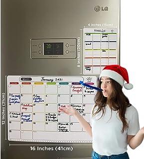 10 Pcs Smart Planner Magnetic Whiteboard For Kitchen & Fridge - Dry Erase, Menu Deal, Shopping List/Notepad/Calendar   1 G...