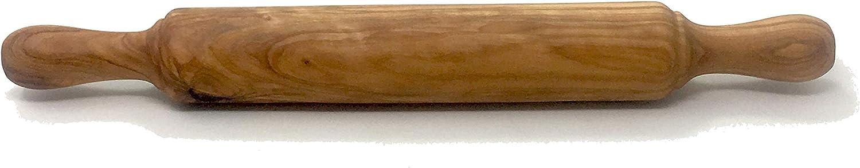Nudelholz 45x5cm aus Olivenholz, handgefertigt in Mallorca, Teigrolle, feststehend, Plätzchen Plätzchen Plätzchen B07K2L983T ae4160