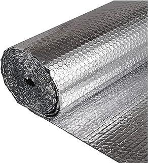 catch-L Film D'isolation Double Couche Aluminium Feuille D'aluminium Isolant à Bulles 5mm pour Isoler Les Planchers De Pla...