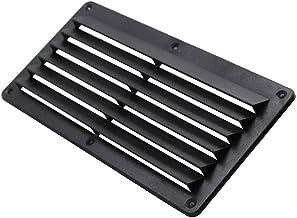 Ventilatierooster, ventilatierooster, zwart, ABS-kunststof, eenvoudige reiniging