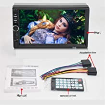 FOLOU Audio Systems Car MP5 Playe - Double Din, Bluetooth Audio and Calling, 7 Inch Double 2 Din Screen, MP3 Player, CD, DVD, WMA, USB, SD, Auxiliary Input, AM FM Radio Receiver