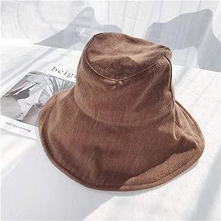 SHENLIJUAN Summer Sun hat Female Korean Literary hat Visor Basin Cap Japanese Small Fresh Outdoor Sun hat (Color : Coffee, Size : One Size)