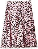 Tommy Hilfiger Midi Skirt Falda, Rosa (Leopard Print 699), Large para Mujer