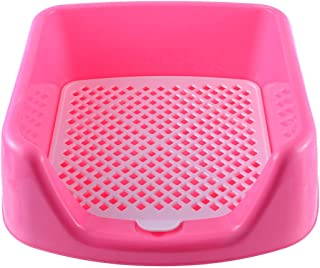 Dghui self-clean booxes Lattice Dog Toilet Potty Pet Toilet Detachable Dog Cat Training Fence Tray Pad Pee Toilet W/Pee Pillar for Small Sized Dogs