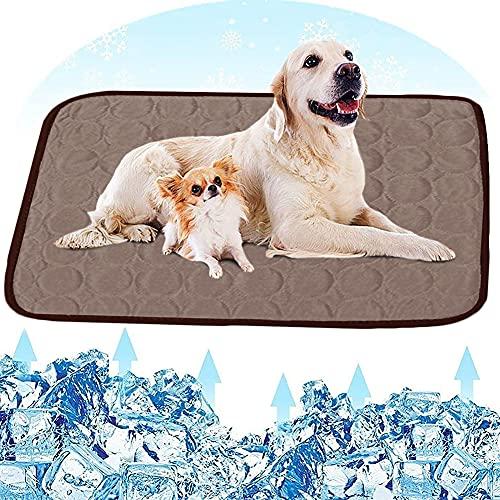 All--In Kühlmatte Hunde Waschbar rutschfest Weich Hundematte für Haustiere Sommer (70*100, Braun)