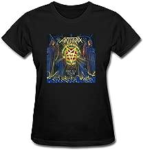 JXK Women's For All Kings 2016 Anthrax Band T-shirt