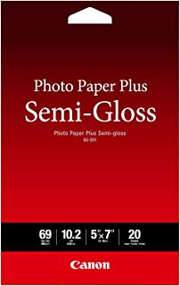 "Canon Photo Paper Plus Semi-Gloss 5"" x 7"" (20 Sheets) ( SG-201 5X7)"
