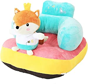 Children s Sofa Backrest Chair Cute Soft Stuffed Baby Seat Feeding Chair Cartoon Animal Shaped Plush Toys Infant Support Learning Sit Safety Seat Safety Seat Color Cartoon Fox Size One size