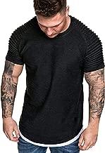CICIYONER Herren Tshirts Sommer Falten Slim Fit Raglan Kurzarmshirts Tops Bluse Schwarz Weiß Grau Armeegrün Khaki M L XL XXL XXXL