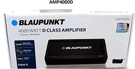 Blaupunkt AMP4000D 4000W Max 1-CH Monoblock Class D Stereo Car Audio Amplifier