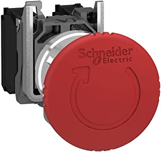 Gris//Rojo Schneider Electric A9E18037 Pulsadores iPB simple 1NC con indicador luminoso 110-230 V CA