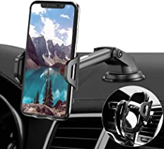 RAXFLY Phone Car Holder Mount - Windshield/Air Vent/Dashboard Cell Phone Holder for Car Universal Mount Stand Compatible with iPhone 11 Samsung S20