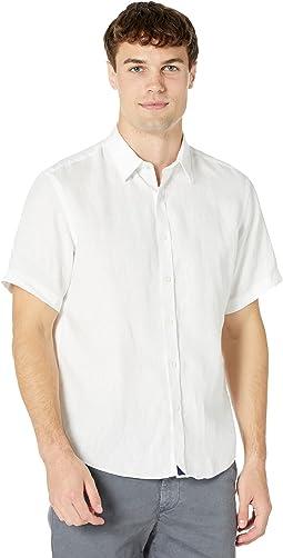 Wrinkle-Resistant Short-Sleeve Linen Calvano Shirt
