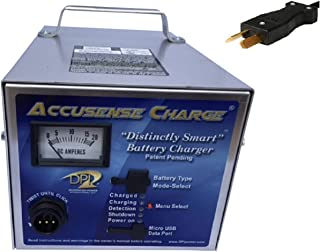 Accusense Charge Series 48volt 17amp Golf Cart Battery Charger with Clubcar Crowfoot Connector DPI Gen IV