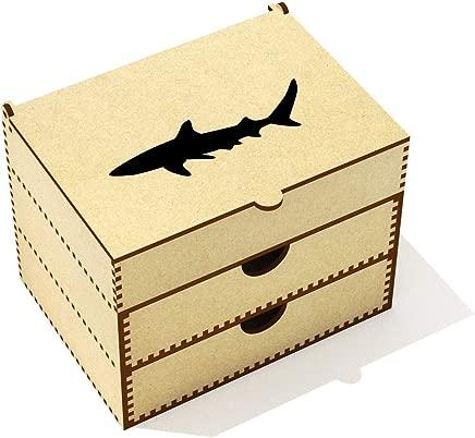Azeeda  Shark Silhouette  Vanity Case Makeup Box  VC00020358