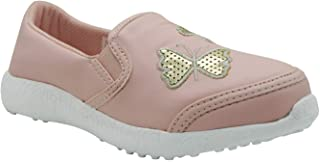KazarMax Boys & Girls (Unisex) Butterfly Print Pink Latest Collection, Comfortable Sneaker Shoes
