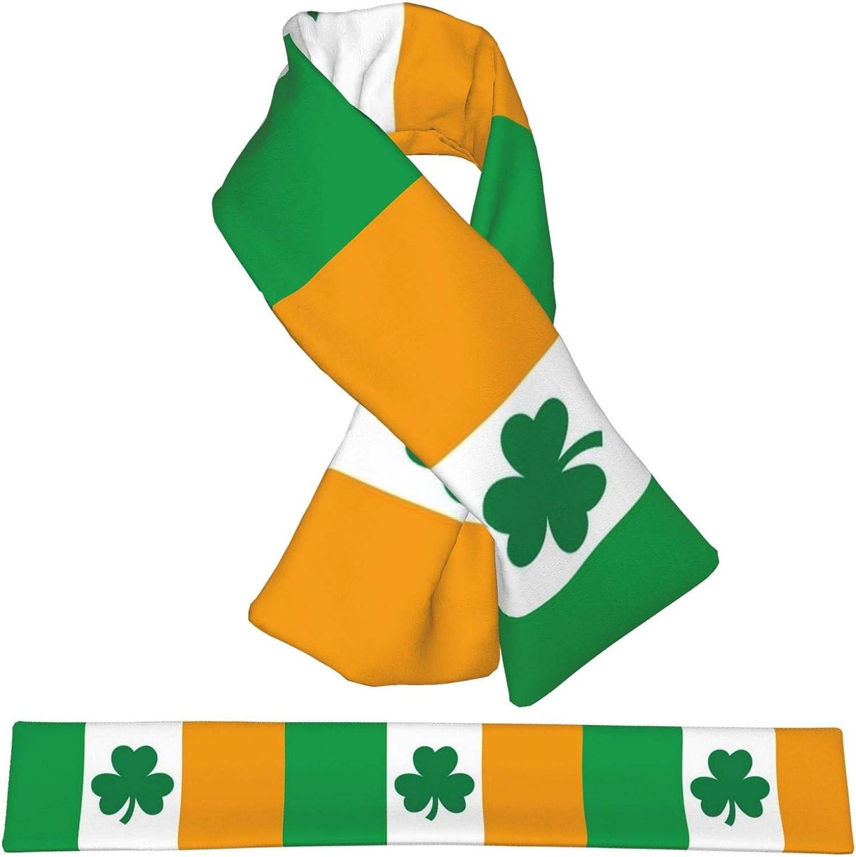 Winter Scarfs St Partricks Day Irish Flag Scarves Wraps Neck Warmer Flannel Winter Cross Tie Scarves