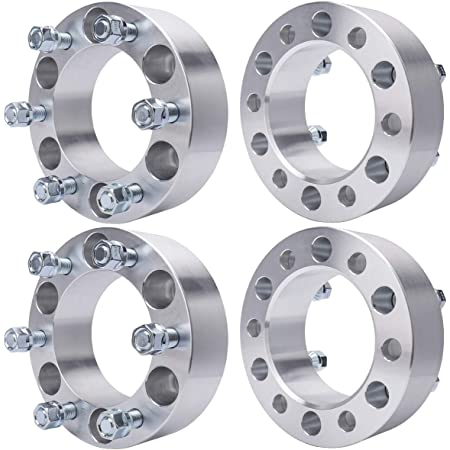 OCPTY Replacement Parts Compatible with 6x5.5 to 6x5.5 Wheel Spacers 2X 1 6x5.5 6x139.7 to 6x139.7 14x1.5 Studs fits for Cadillac Escalade Chevrolet Chevy Tahoe Silverado 1500