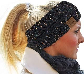 Loritta Womens Ear Warmers Headbands Winter Warm Fuzzy Cable Knit Head Wrap Gifts