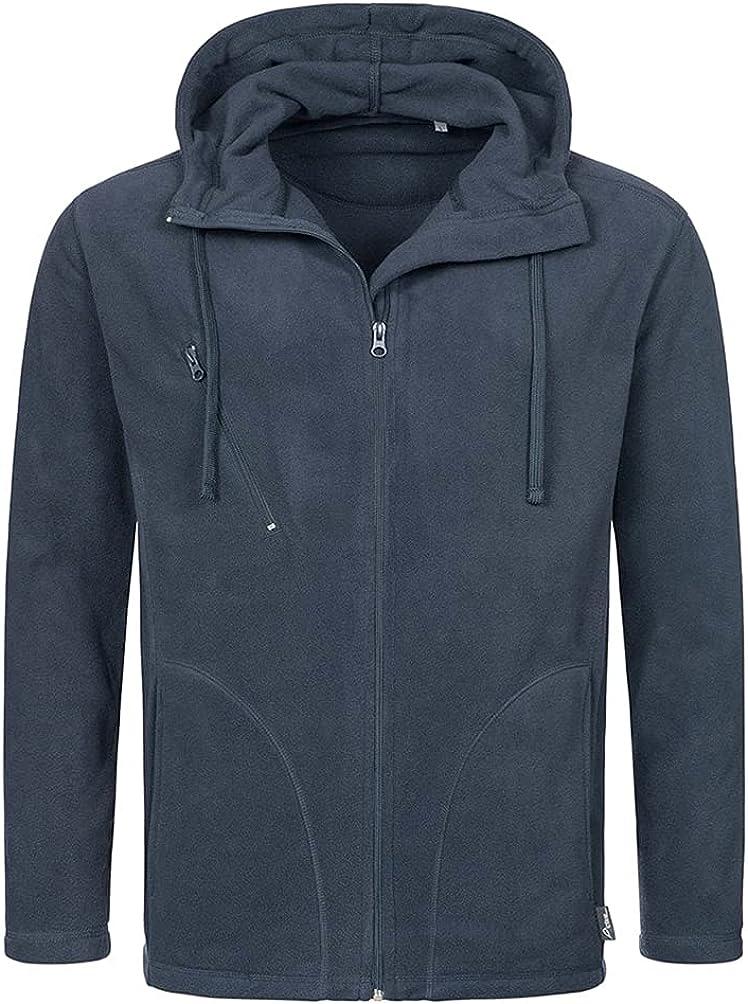 Stedman Mens Active Hooded Fleece Jacket