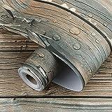 URNOFHW Peel and Stick Wallpaper Selbstklebende Kunstholz Kontakt Papier für Arbeitsplatte Schrankregal Schublade Vinyldekor Aufkleber (Color : Light Grey, Size : 45x100cm)