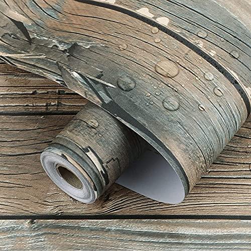 URNOFHW Peel and Stick Wallpaper Auto Adhesivo Faux de Madera Papel de Contacto para la encimera de gabinete Estante de Estante Decoración de Vinilo Decoración Pegatinas