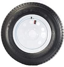205/75D15 Trailer Tire with Rim (White Mod Rim)