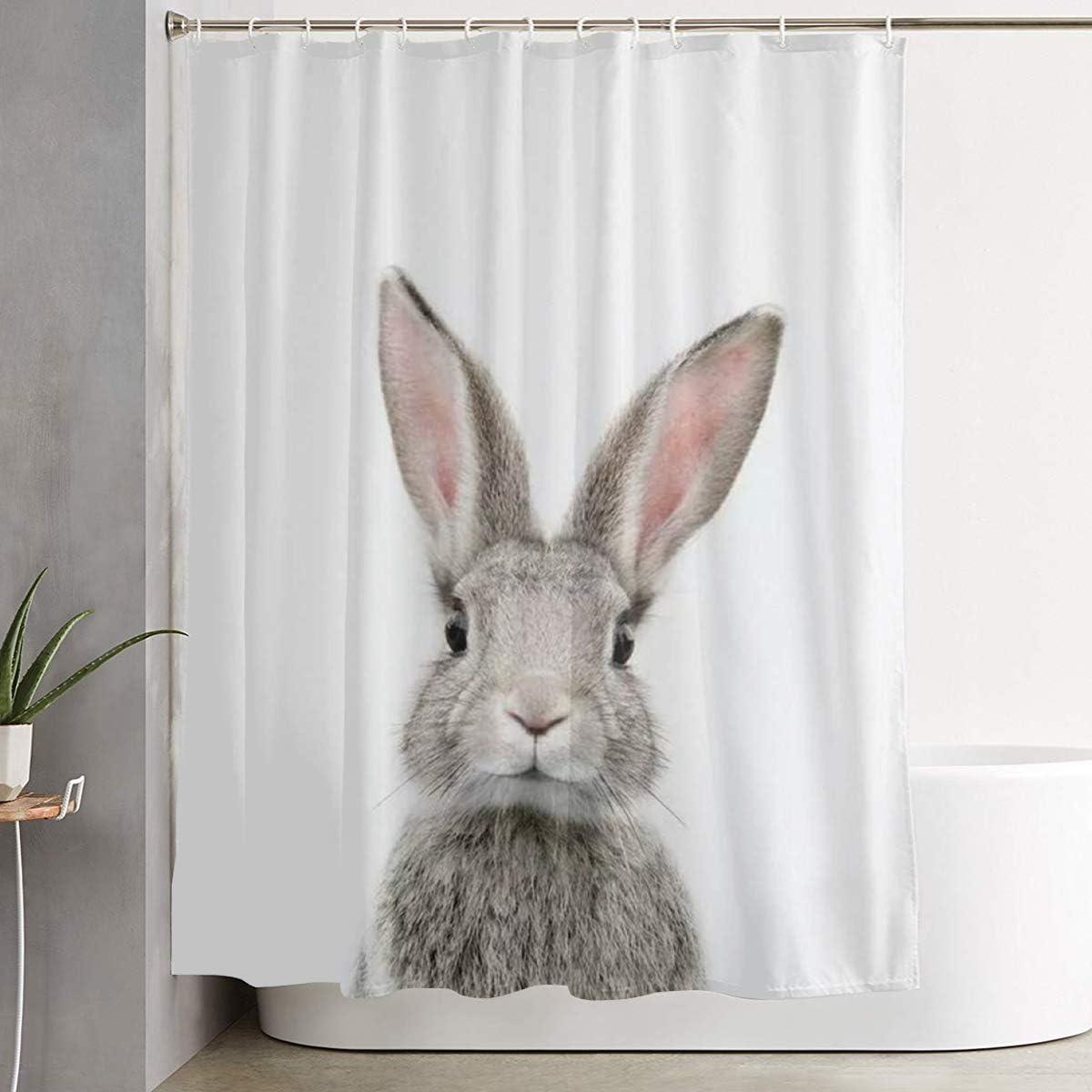 Cute Bunny Rabbit Shower Curtain Bathroom Curtains Sets With Hooks Shower Bath Curtain For Bathroom Polyester Bathroom Shower Curtain Kitchen Dining Amazon Com