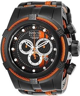 Men's 26473 Reserve Quartz Chronograph Black, Orange, Silver Dial Watch