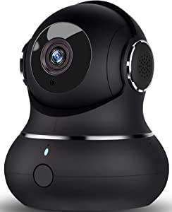 [2021] Indoor Security Camera 1080P, DJHH WiFi Camera for Home Security 2.4Ghz Dog Camera with Phone App for Pet/Baby/Elderly with Night Vision/2 Way Audio/Motion Detect