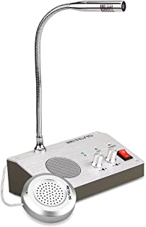 Retevis RT-9908 3W/3W Anti-interference Bank Counter Window Intercom System Dual-Way Intercommunication Microphone(Silver,1 Pack)