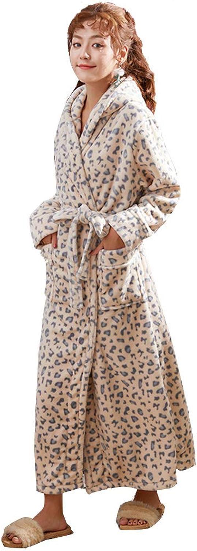 WL Ladies Dressing Gown Bathrobe Robe Lounge Plush Fleece Luxury Terry Towelling Sleepwear Hooded Present for Ladies Gym Shower Spa,1,XL