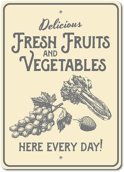 Deaklove Vegetables Art Tin Sign Retro Metal Wall Plaque Advertising 20x30cm Exquisite Decorative Sign