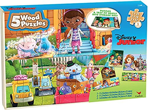 Disney Junior Wood Puzzle Set [Sofia the First, Jake and the Never Land, Doc McStuffins]