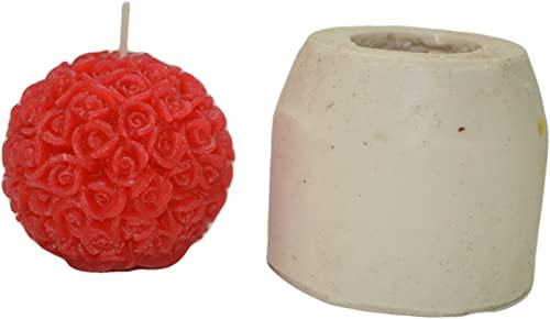 Niral Industries Silicone Rose Ball Candle Mould; 5.3 x 5.3 x 5.3 cm